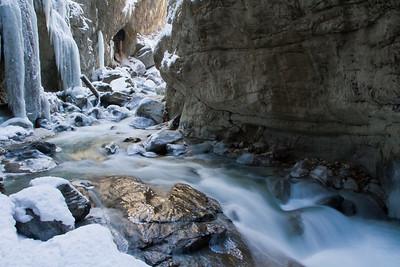 Eiszeit in der Partnachklamm