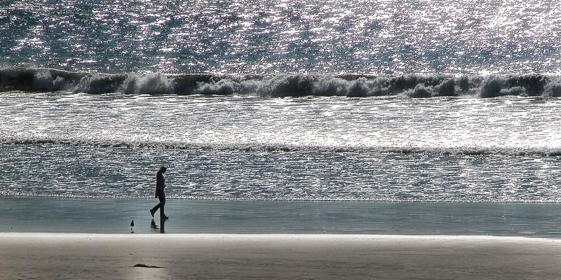 Quiet Beach in San Diego