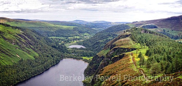 Glendalough Valley from Cliff Trail