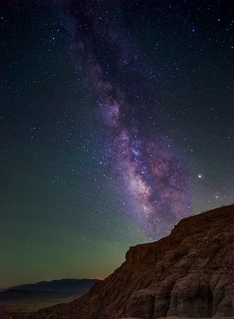 Milkyway over the desert