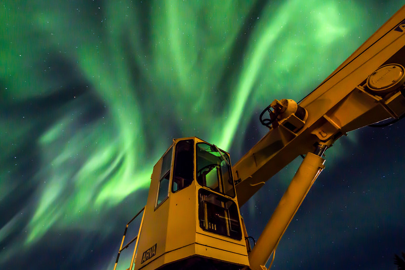 The Eckaloo's Crane and the Northern Lights