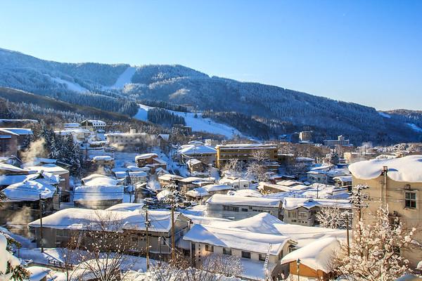 Zao Onsen village Yamagata, Japan