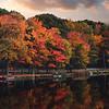 Autumn morning at Pocono lake