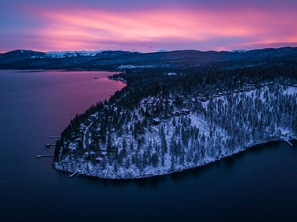 North Lake Tahoe Sunset, California