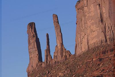 The Three Sisters, Navajo Nation, Utah