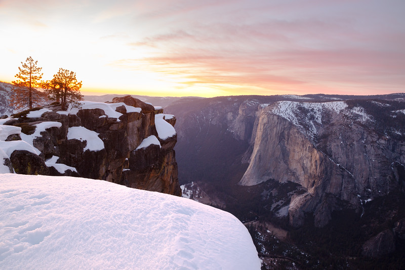 Glowing Sky at Taft Point (February 2021)