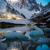 Cerro Torre and Laguna Torre at dawn.