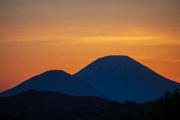 Summer Glow, Mt.Yotei (Right), Hokkaido, Japan