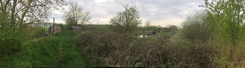 Kennet and Avon Canal Newbury - View to Benham Lock