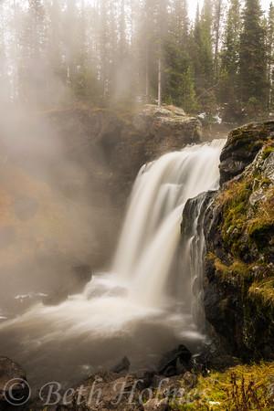 Autumn Misty Falls
