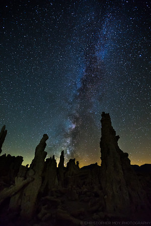 The Milky Way over Tufas
