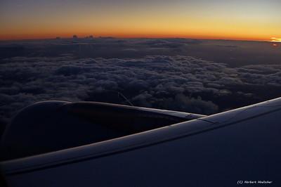 Abendflug nach München