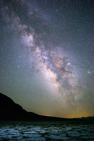 Milky Way over Badwater (June 2018)