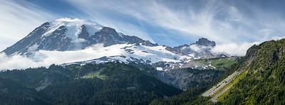 Mount Rainier and Little Tahoma from Stevens Canyon, Mount Rainier National Park