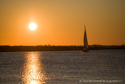 Sailboat Sunrise, Moultrie Creek, St. Augustine Florida