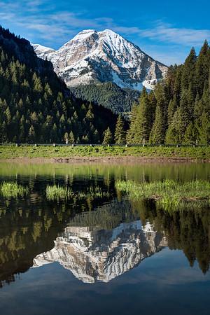 Mount Timpanogos, Tibble Fork Reservoir, American Fork Canyon, UT