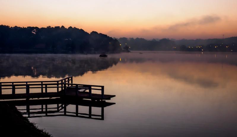 Sunrise over Lake Xuon Huong, Dalat