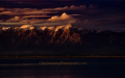 Sunset on the Wasatch Range