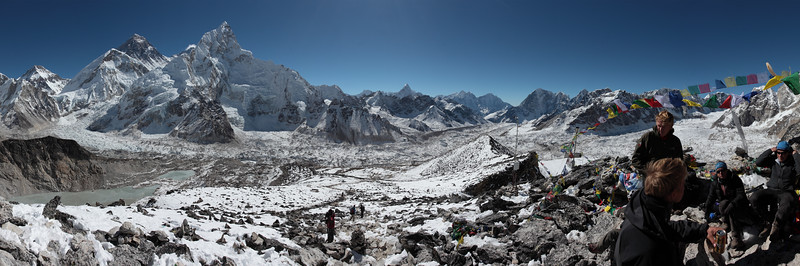 Mt. Everest, Mt. Lhotse and Mt. Nuptse from Kala Pathar