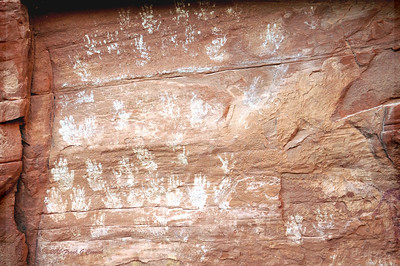 Native American pictographs on Navajo Nation