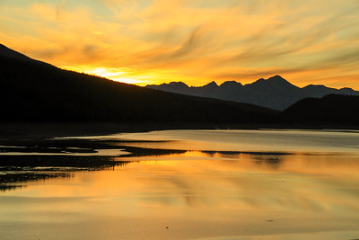Medicine Lake - Jasper National Park - Sunset
