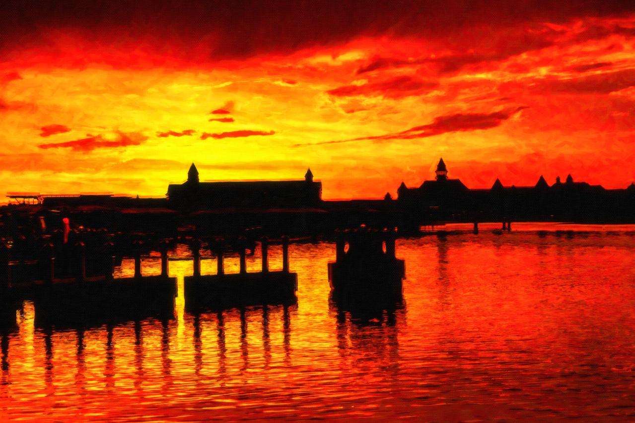 Sunset @ Magic Kingdom