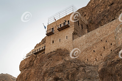 Monastery of the Temptation on the Mount of Temptation in Jericho in Palestine