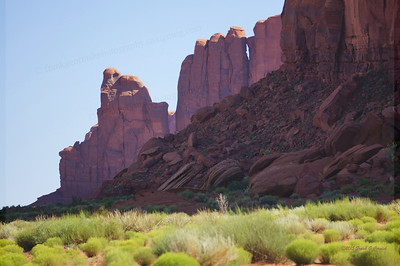 Monument valley in spring