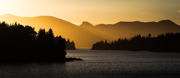 Sunset over the Broken Group Islands