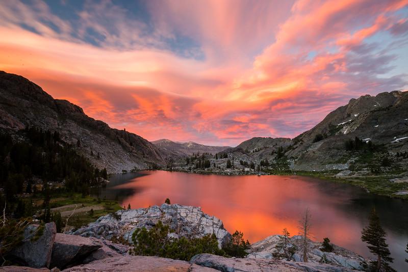 Sunset at Ediza Lake (July 2016)