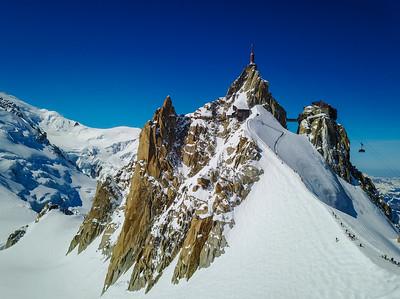 Aiguille du Midi. Chamonix, France.
