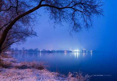 Mill lights on a Winter Night
