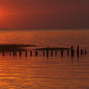 Sonnenuntergang im Watt vor Harlesiel