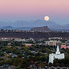 LDS Temple Super Moon Panoramic