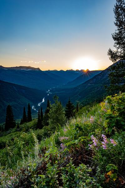 Glacier National Park sunset, Montana