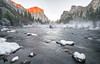 Winter sunset in Yosemite Valley