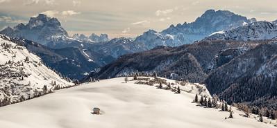 Monte Pelmo and Monte Civetta