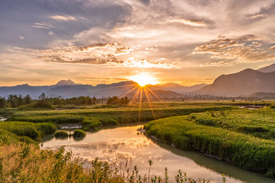 Sunrise over Squamish