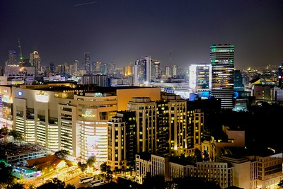 another night  view of Bangkok