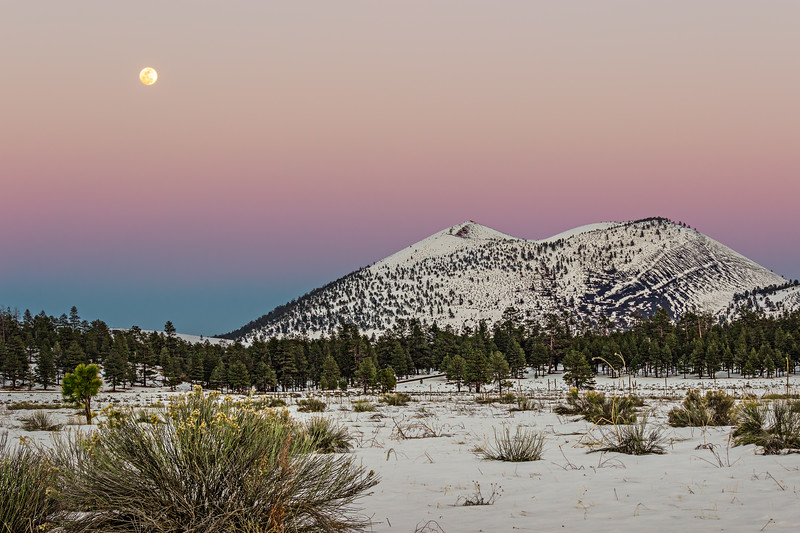 Full Moon at Sunset Crater I