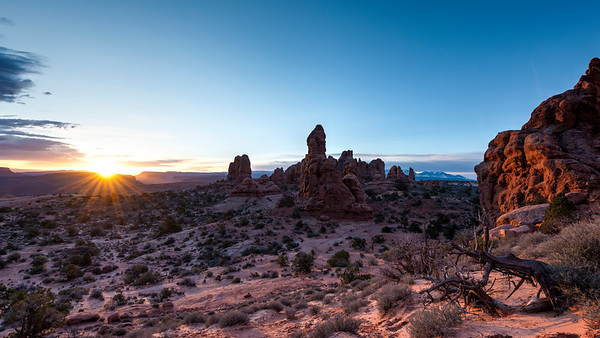 Sunrise in Arches