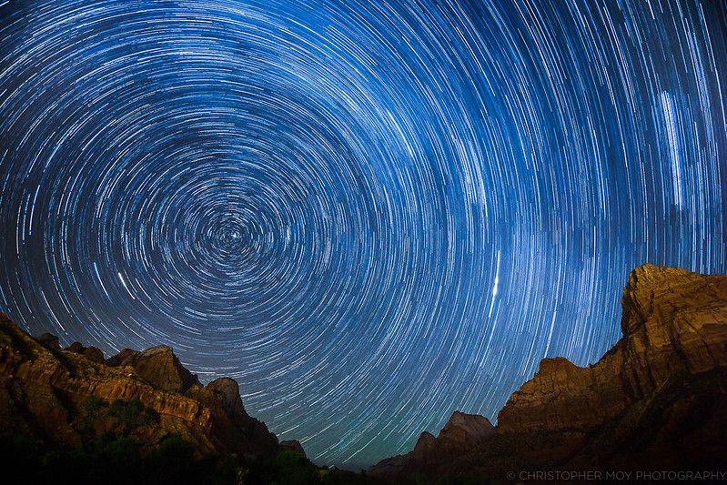 Star Trails over Zion