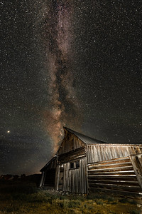 Mormon Barn and Milky Way