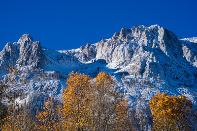 Fall Colors and Carson Peak.  June Lake, California.