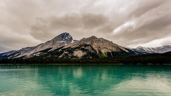 Mountains of Maligne Lake