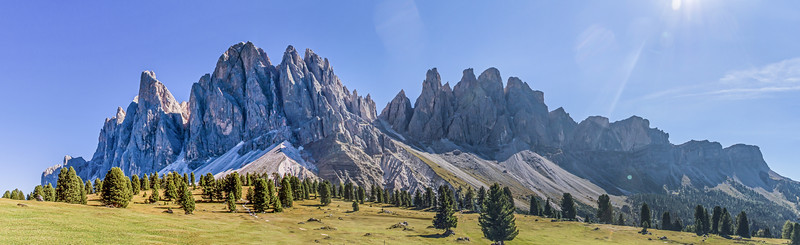 Panorama - Geislerspitzen in den Dolomiten
