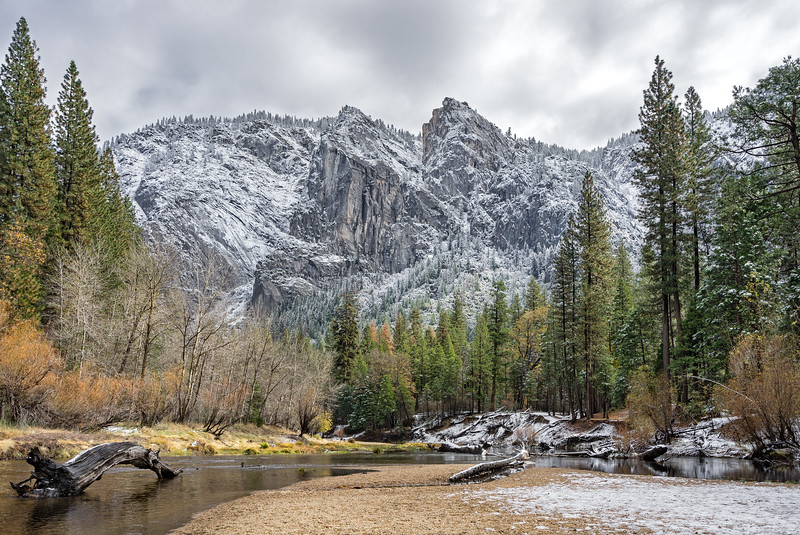 first snow in Yosemite Valley
