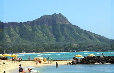 Diamond Head and Waikiki beach, Oahu, Hi