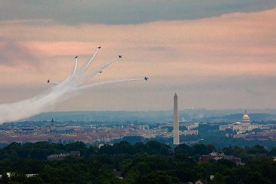 Blue Angels Soar Over The Washington Monument