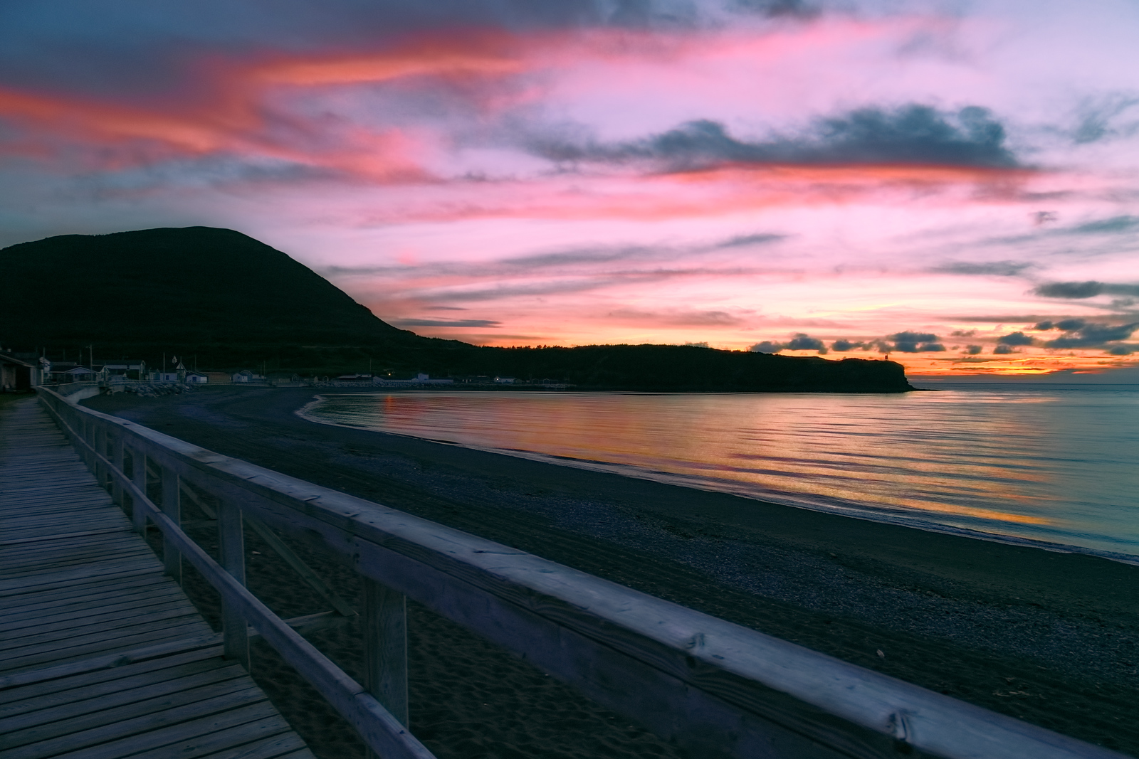 Sunset over Trout River